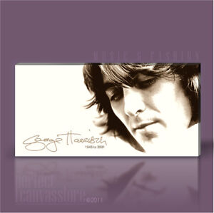 GEORGE HARRISON GIANT ICONIC SIGNATURE COLLECTION CANVAS ART by Art Williams