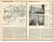 1961 Cumberland Terrace Flats Regents Park, London Heliport's Proposed