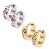 Stainless Steel Womens Mens Hoop Earrings Huggie Earrings CZ Piercings