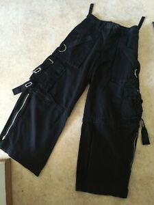 Vintage Tripp NYC Authentic Mens Rave Club Goth Punk Wide Leg Flare Pants Sz M