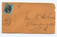 1870s Independence Kansas 3 cent banknote grilled #136 cover [y3326]