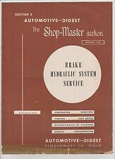 Brake Hydraulic System Service - Automotive Service Digest - January 1953