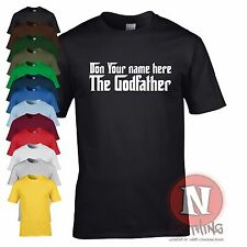 Custom personalised classic Godfather movie T-shirt birthday christmas gangster