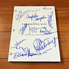 ZOOKEEPER'S WIFE SIGNED MOVIE SCRIPT BY 10 CAST w/ PROOF JESSICA CHASTAIN + MORE