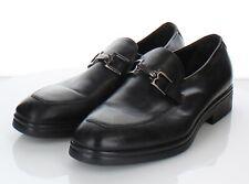 D2 $395 Men's Sz 10 M Bruno Magli Elia Leather Apron Toe Loafer In Black