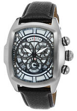 Invicta Lupah Silver Black Dragon Quartz Watch w/ Five-Piece Leather Strap Set