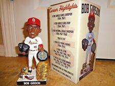 St Louis Cardinals Bob Gibson Career Highlights Bobblehead Spfld HOF SGA 8-18-18