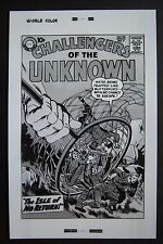 Lg. Production Art CHALLENGERS OF THE UNKNOWN #7 cover, JACK KIRBY art, 11x17
