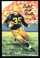 Pittsburgh Steelers BULLET BILL DUDLEY autograph signed auto Goal Line Art Card