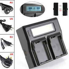 LCD Dual 2 Battery Charger For Nikon EN-EL15 D7200 D600 D610 D750 D810 V1 D7000