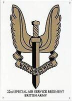 Who Dares Wins (SAS) enamelled steel sign     (dp)