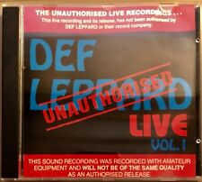 DEF LEPPARD Live Vol 1 Unauthorised RARE OZ CD