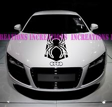 Black Widow Spider Avengers Hood Stripe Any Car Decals Stickers Racing Graphics