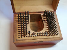 1Vintage SWARTCHILD Clock Watch Making Repair Staking Tool Set In Box 107 Pieces