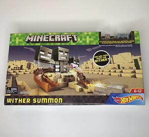 Rare Minecraft Hot Wheels Wither Summon Trackset Playset Swivel Launcher Sealed