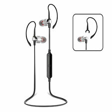 Wireless Bluetooth 4.0 Sport Headphones Mic iPhone Samsung Android Silver/Black