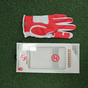 New Zero Friction Compression Fit Performance Golf Gloves, Red,Ladies Right