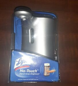 NEW  Lysol No-Touch Automatic Hand Soap Dispenser Silver Discontinued Hands Free