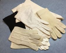 Lot 8 Pair Vintage Antique Small Ladies Gloves some soft leather