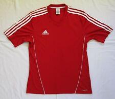 Adidas Climalite Red & White Stripe Football Shirt Size Medium M