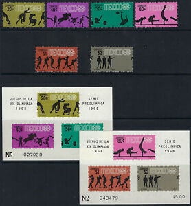 MEXICO:1968 Olympic Games Propaganda POSTAGE 4th set+MS  SG1158-63+MS1164 MNH
