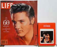 ELVIS Life Magazine 60th Birthday 2/10/95 + ELVIS: A Legendary Performer 8 TRACK