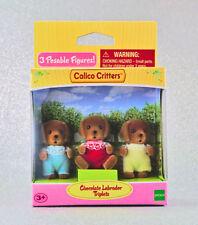 Sylvanian Families Calico Critters Chocolate Labrador Triplets