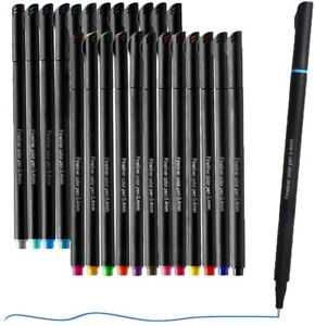 Fineliner Colored Pen Set Water Based 24 Colors Fine Tip Pens 0.4mm Pens Markers