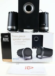 Altec Lansing Technologies Compact Subwoofer & Two Speakers BX1221 Great Sound