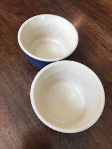 Pair Blue Le Creuset Ramekin Dishes