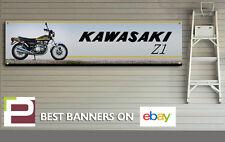 KAWASAKI z1 900 MOTO banner per officina, garage, Large 2000mm x 500mm