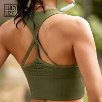 Women's High Impact Sports Bra Padded Bounce Control Plus Size Crop Top Workout