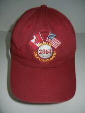CANADA vs USA American Canadian CAN-AM GOLF TOURNAMENT HAT Course Baseball Cap