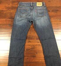 Mens Levi's 514 Slim Straight Leg Jeans Size 30X32 Classic Blue Denim (J013)