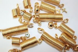 Hair Coil Dreadlocks Braiding Charms Beads (Spring Braid with Charms)