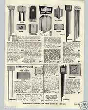 1948 PAPER AD Nutone Door Bell Chimes Airliner Airplane Clock Yankee Clipper