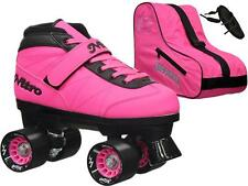 Epic Turbo Nitro Indoor Outdoor Pink Quad Roller Speed Skate Bundle With Bag!