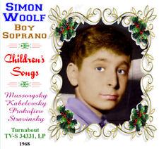 Simon Woolf Boy Soprano  Treble Children's Songs Mussorgsky Kabelevsky Prokofiev