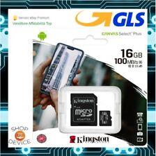 Kingston MicroSD 16GB Class10 100MB/s Scheda Memoria - ULTIMA VERSIONE 2020