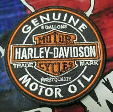 EMBROIDERED GENUINE HD MOTOR OIL PATCH