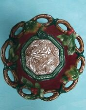 Fitz and Floyd Christmas Potpourri Bowl Dish Holly Berry Leaves