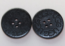2+2=6 SPECIAL! TWO BRAND NEW Buttons for UGG WOMEN BOOTS, CLOTHES - BLACK color