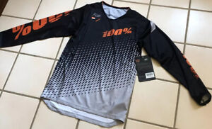 Brand New With Tags! 100% Mountain biking Jersey, Youth Large
