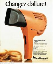 PUBLICITE ADVERTISING 116  1978   séche-cheveux  par Moulinex