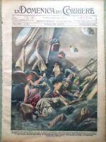 La Domenica del Corriere 30 Giugno 1929 Tragedia Aerea Manica Don Bosco Cimarosa