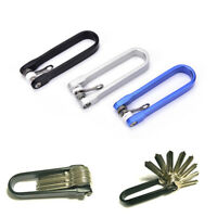 Outdoor Edc Multi Tools Mini Pocket Folded Keychain Key Holder Clip Organizer SE
