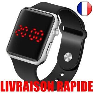 Montres LED Sport Numérique Homme Femme Silicone électronique Bijoux Watch Mode