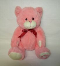 Pink Plush Bear with Red Necktie Goffa 10 Inches