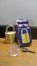 NEW ABUS 83/45 800 WEISER E KEYWAY REKEYABLE BRASS PADLOCK FREE USA 1ST CLS S&H