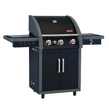 Coleman XTR3 3 Burner Outdoor Propane Gas Backyard Barbecue BBQ Grill, Black